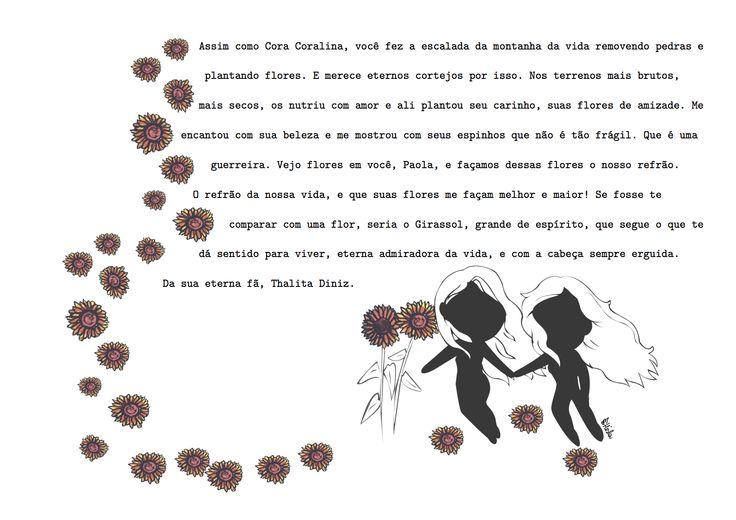 Eu vejo flores em você » Eu vejo flores em você – Plataforma oficial do projeto. » Paola. Ilustração por Hisla Sena.