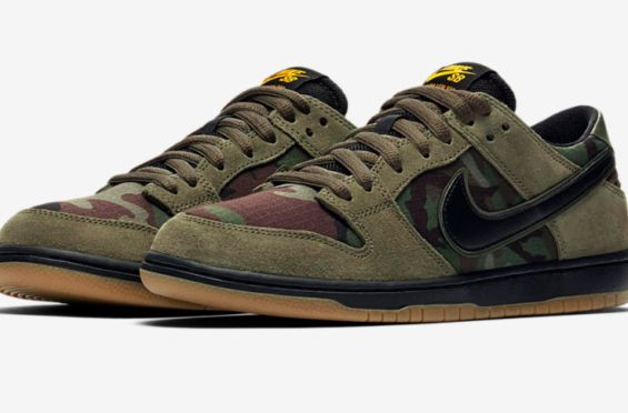 Release Date: Nike SB Dunk Low Pro Skate Camo        To follow up on the collaboration with Soulland, the Nike SB Dunk Low is releasing in a skate camo theme before the end of 2017. The striking m... http://drwong.live/sneakers/nike-sb-dunk-low-pro-skate-camo-release-date/