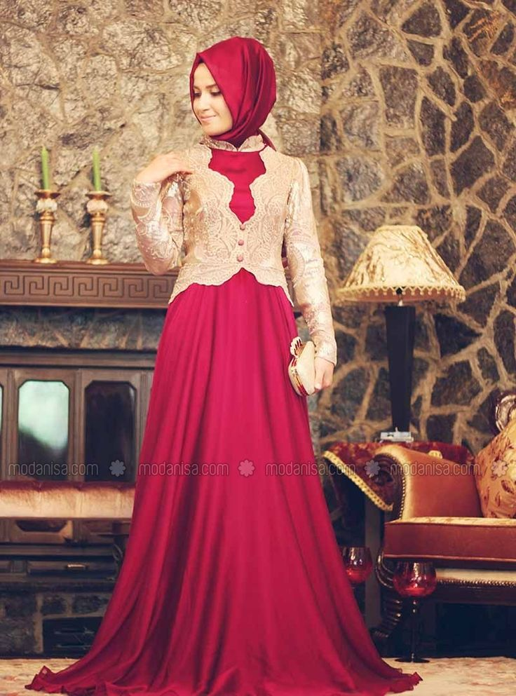 Mah-i Devran Evening Dress - Pink - Minel Aşk