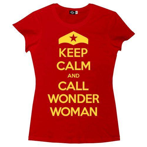 Hank Player 'Keep Calm & Call Wonder Woman' Women's T-Shirt (XS, Red) Hank Player http://smile.amazon.com/dp/B00A4TMAR8/ref=cm_sw_r_pi_dp_CPxRtb05ARN2XKZT