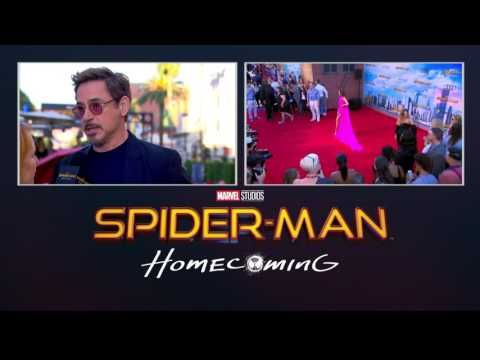 Robert Downey Jr. Makes an Entrance at the Spider-Man: Homecoming Red Carpet World Premiere in Hollywood - June 28, 2017 | Marvel Entertainment