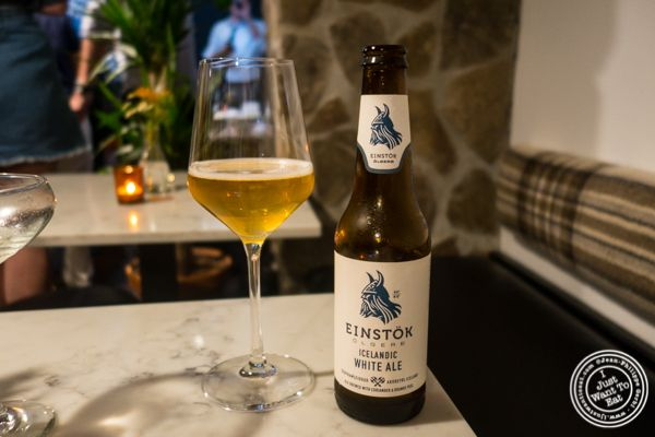 Einstok Icelandic white ale at Icelandic Fish and Chips in NYC, NY