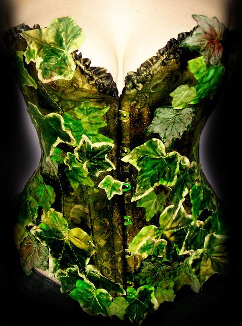 Green ivy corset for Poison Ivy costume <3