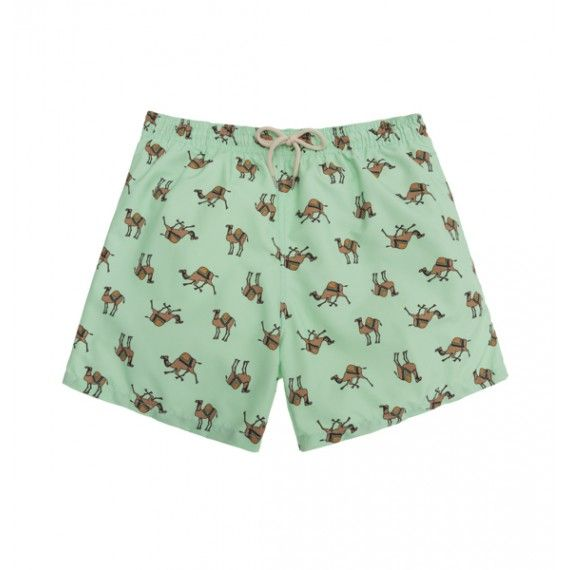green camels swim short /  bañador camellos color verde