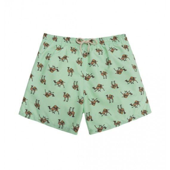 green camels swim short /  bañador camellos color verde