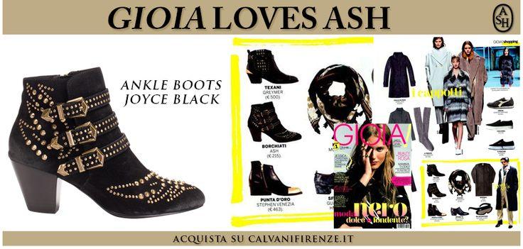 Il magazine #Gioia consiglia gli ankle boots di #Ash Joyce arricchiti da luminose borchie dorate!