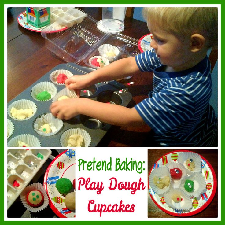 Pretend Baking Play Dough Cupcakes Invitation To Play