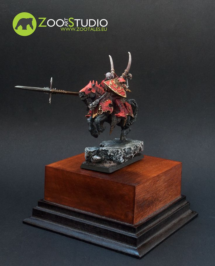Vampire Lord on horseback.  Converted and painted by Zoo Art Studio