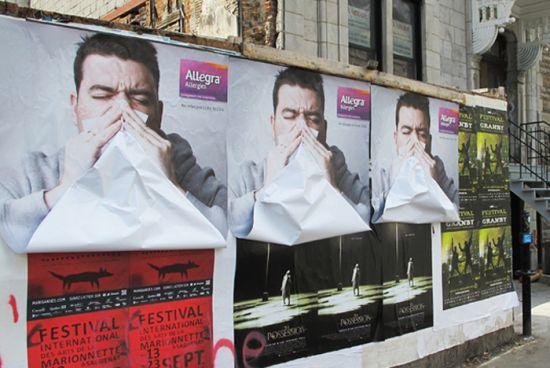 Publicidad exterior alergia