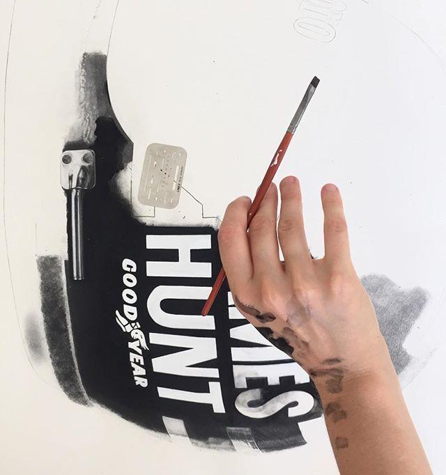 JAMES HUNT BELL HELMET, hyperrealistic painting by KAWCARS on Instagram