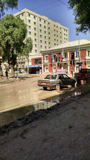 Aluvión en el centro de Copiapó