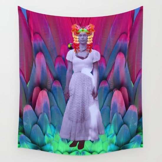 FREE WORLDWIDE SHIPPING ON EVERYTHING  #society6design #societyart #society6artwork #society6shop #Christmas #frida https://society6.com/product/my-frida-my-heroine_tapestry#s6-6339682p42a55v412