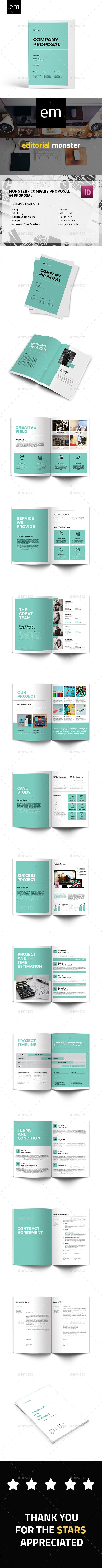 Monster  Company Proposal — InDesign INDD #brochure #layout • Download ➝ https://graphicriver.net/item/monster-company-proposal/20370207?ref=pxcr