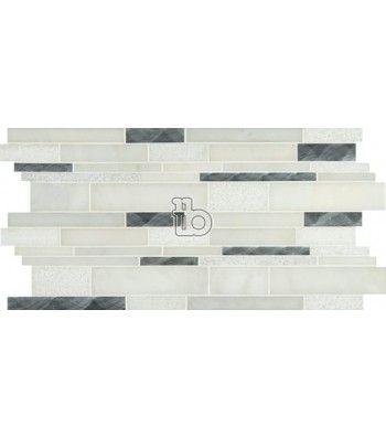 Moderno Blanco Interlocking Pattern 8mm