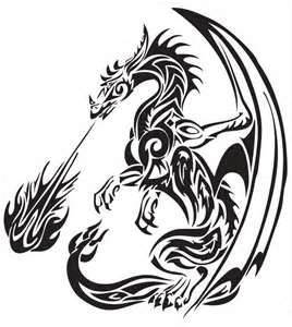 Tribal Dragons Tattoos For Sticker Design Inspiration 24 Dragon
