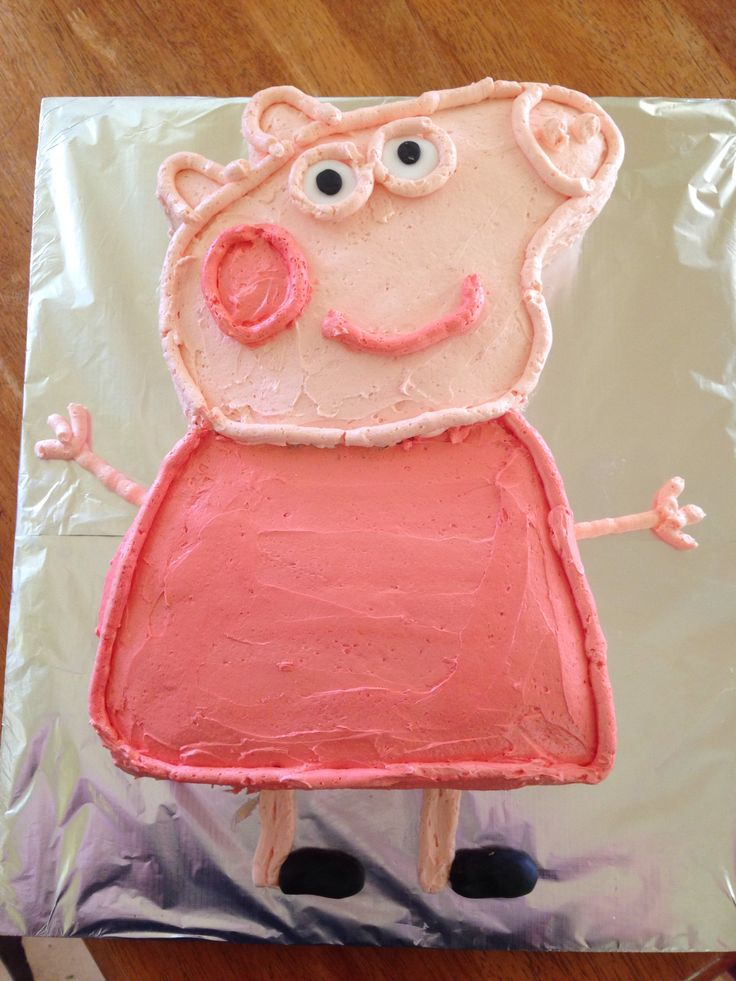 Peppa Pig birthday cake I made for my daughters 3rd birthday.