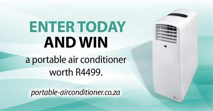 Win this portable air conditioner! Worth R4499!