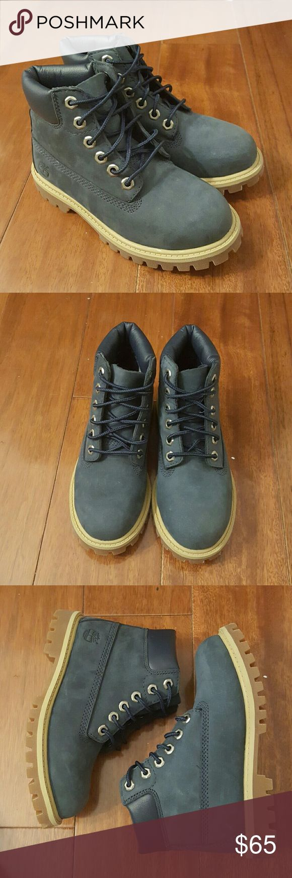 """NAVY BLUE TIMBERLAND 6"""" PREMIUM BOOTS (Toddlers) BRAND NEW TIMBERLAND BOOTS THEY ARE WATERPROOF SIZE 11.5 (BOYS' TODDLER) COMES IN ORIGINAL BOX!!  -MAKE ME AN OFFER- Timberland Shoes Boots"""