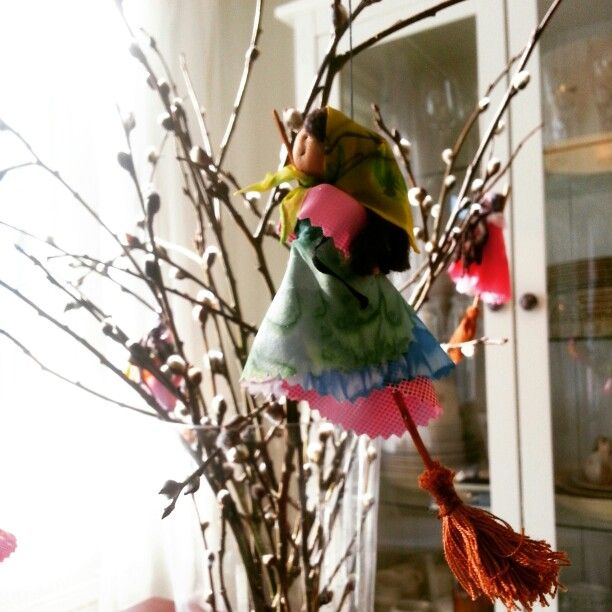 Easter witches flying around! #finland#easter#spring