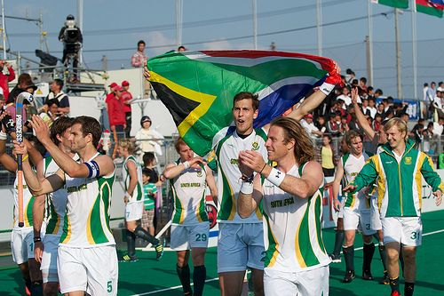 Mens Hockey Team South Africa - The London Olympics 2012. Should you require accommodation in South Africa. Quote & Book: http://www.south-african-hotels.com/