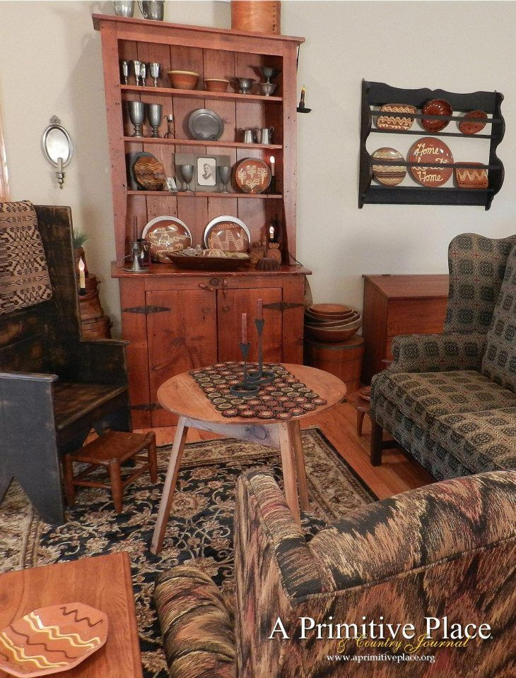 171 Best Primitive Family Living Rooms Images On Pinterest Primitive Furniture Primitive