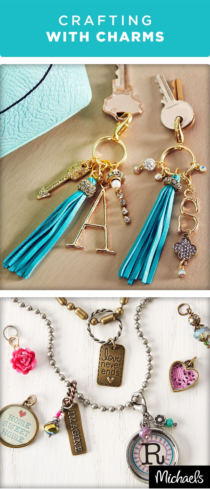 Add a personal twist to your jewelry to make it one of a kind. Necklaces with initials or letter charms are the latest trend. Find all of the supplies you need to make your own custom charm projects at your local Michaels store.