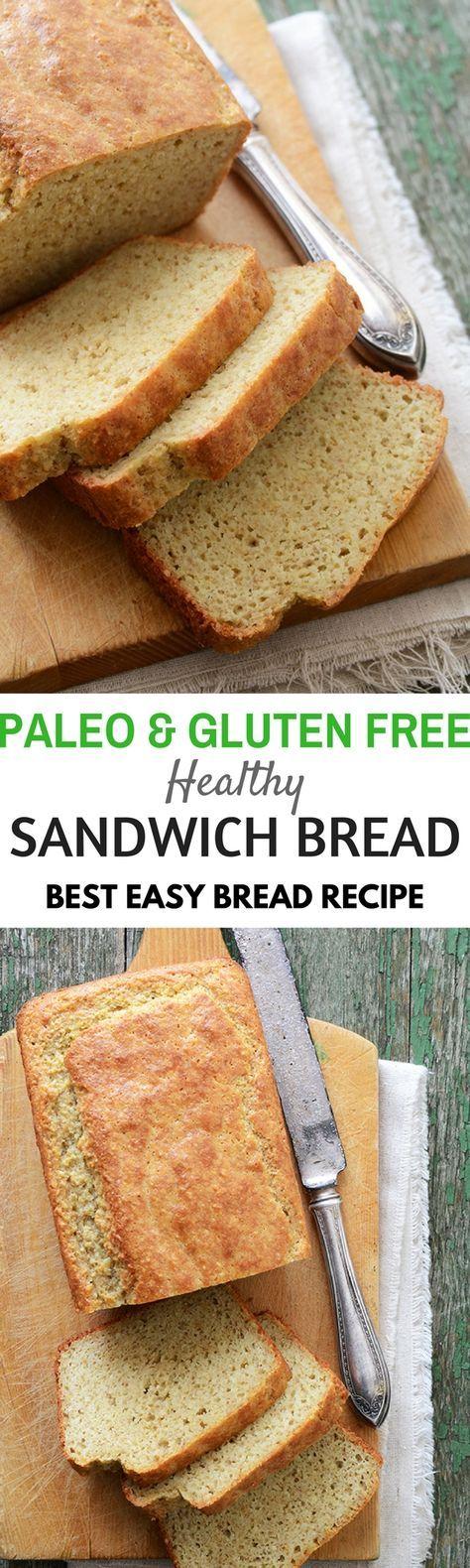 Best paleo sandwich bread. Healthy gluten free best bread recipes for the paleo diet.