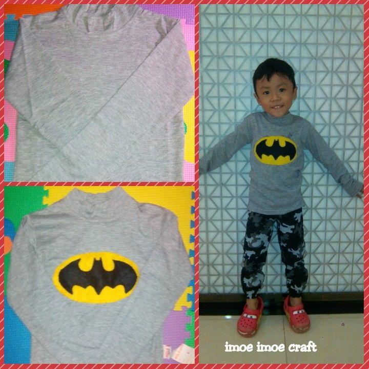 Abang eyza wear batman tee#mycraft#imoeimoecraft#feltcarft#batman