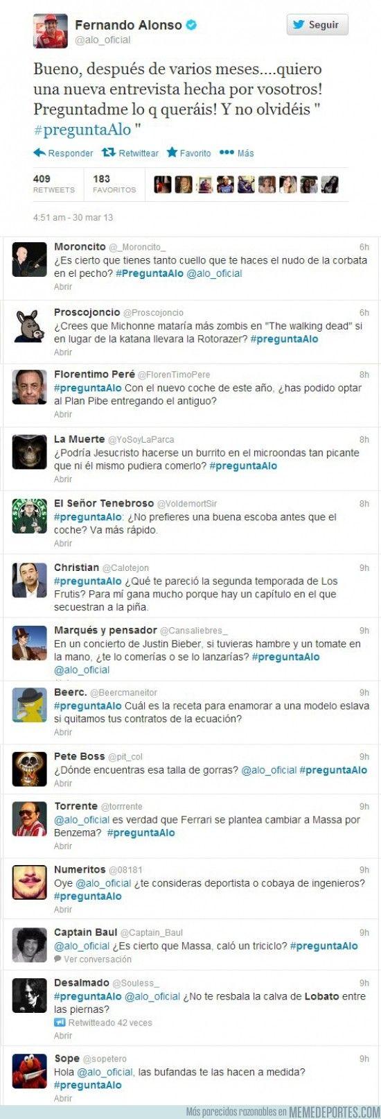 Trolleo Fernando Alonso Twitter