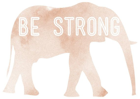 Be strong print by vaporqualquer on Etsy, $15.00