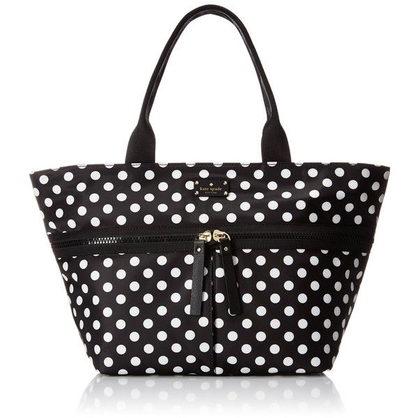 kate spade new york Clark Court Nylon Arabella Tote Bag ($198) ❤ liked on Polyvore featuring bags, handbags, tote bags, handbags tote bags, nylon tote handbags, nylon handbags, kate spade handbag and nylon tote