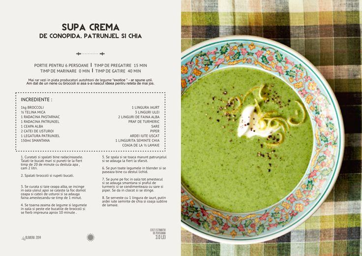 Supa crema de broccoli, patrunjel si seminte de chia