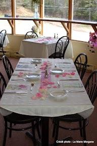 Salle montée en style restaurant pour un brunch.