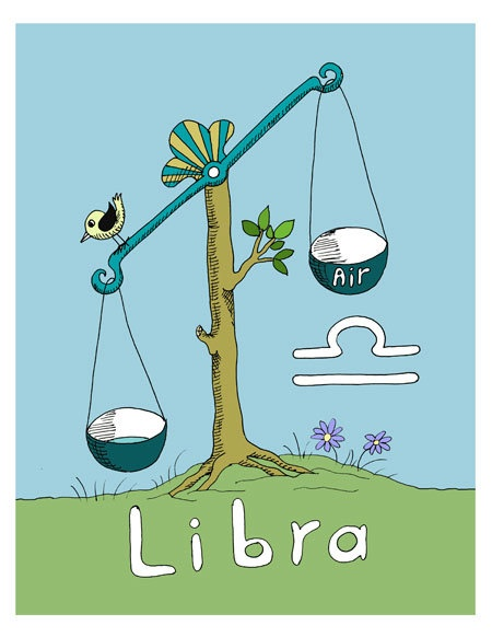 Libra - so cute!! I'm a Twitter freak and the bird tips me toward it too much all the time. :D I need this in my office.