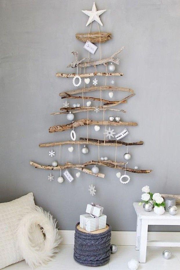 groß Weihnachtsbaumwand: 15 super kreative Modelle