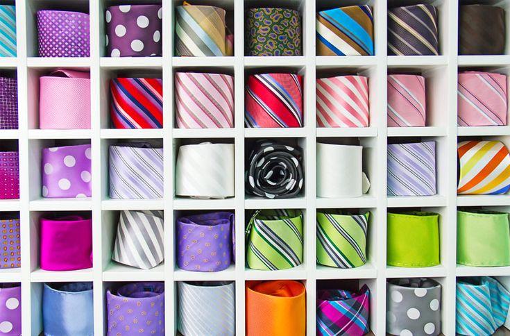 #organização Você sabe como organizar as gravatas sem marcar o tecido? Aprenda: http://bbel.me/1wNhcIW.