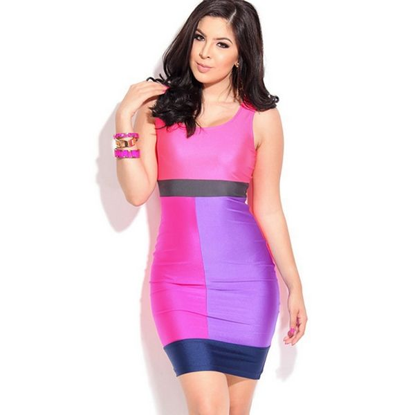 Western Solid Sleeveless Slim Female Vest Bright Colored Dresses