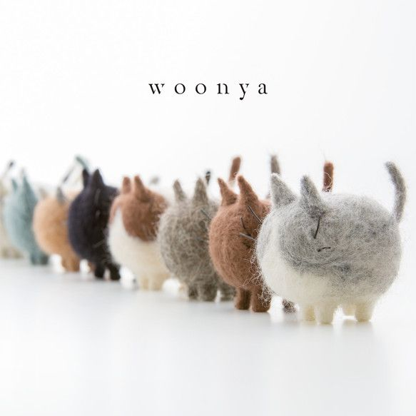 needle felted cats by woonya【オーダーメイド】