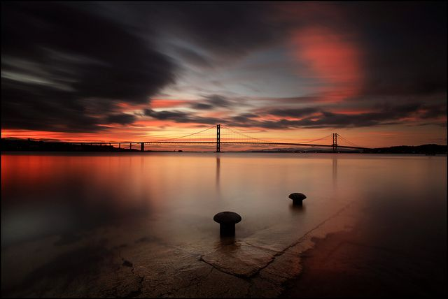 South Queensferry Sunset by angus clyne, via Flickr