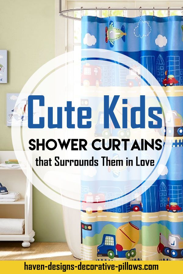 Cute Shower Curtains For Kids Will Sourround Them In Things They Love Cute Shower Curtains Kid Bathroom Decor Bathroom Kids