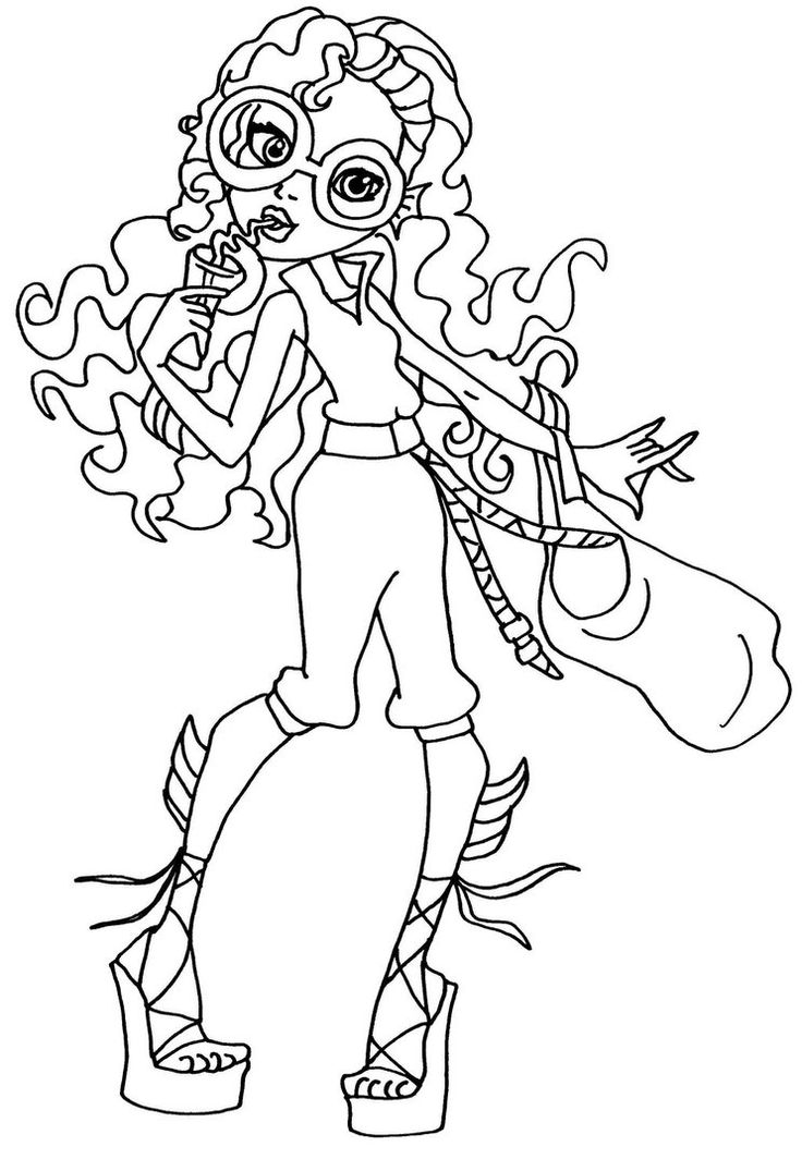 monster high coloring pages lagoona - photo#33