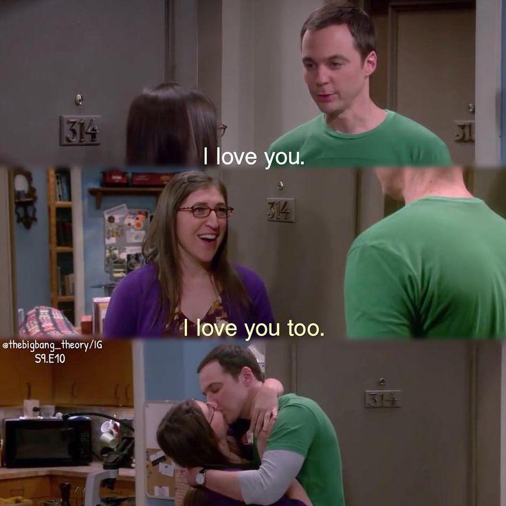 "⠀⠀⠀ ⠀⠀⠀⠀ ⠀The Big Bang Theory on Instagram: """"Kiss her, you brilliant fool."" Shamy 4 ever❤️ #thebigbangtheory #bigbangtheory"""