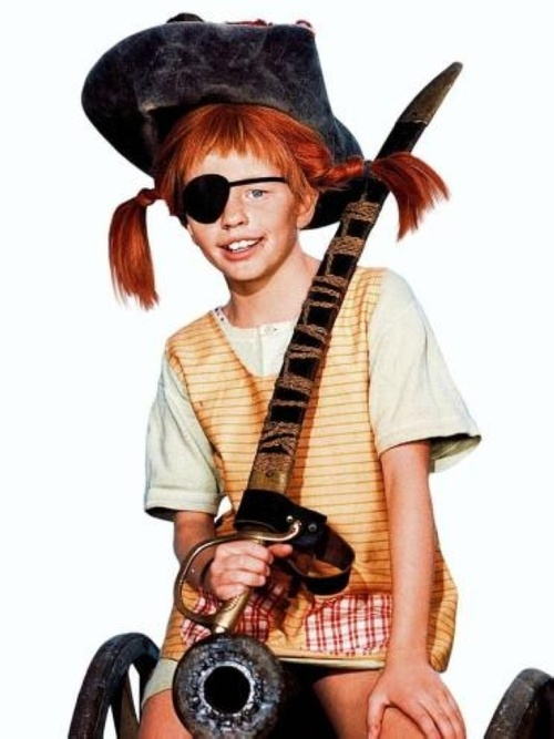Pippi Longstocking from the TV serie based on the books of Astrid Lindgren. Pippi is every little girl's heroine - at least in all the Nordic countries.