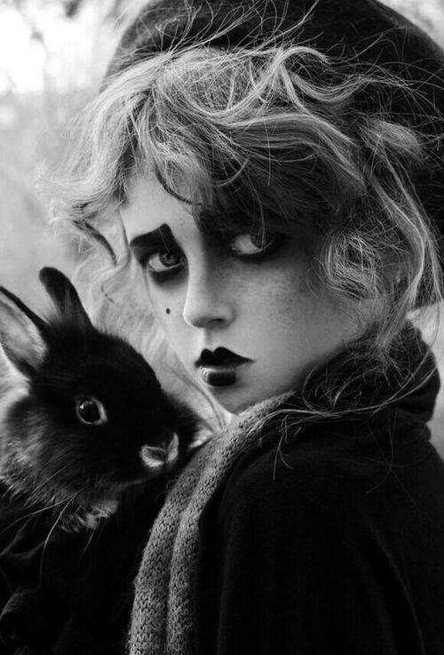 Maquillage type pierrot_jeu de noir et blanc_belle émotion.