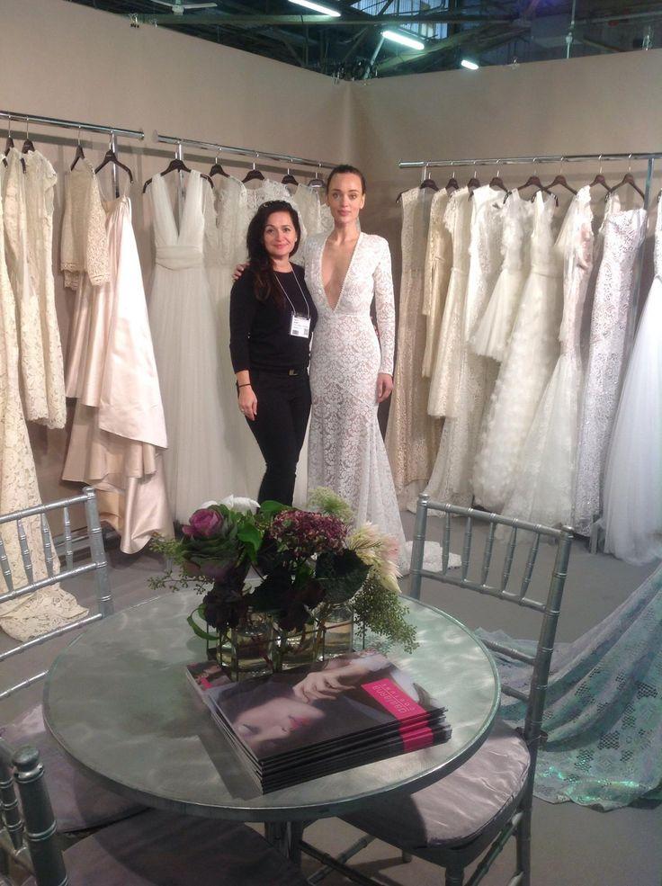 Anita Benes, designer of Daalarna, and our beautiful model, Nelli.