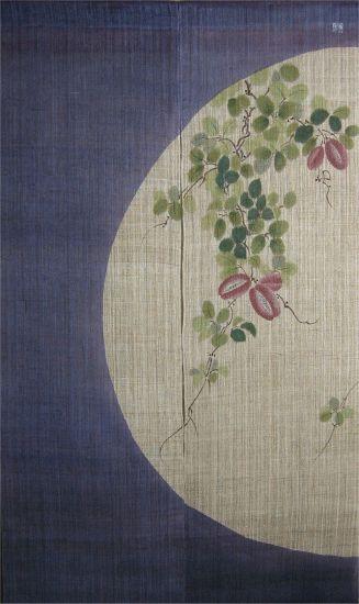 Japanese Noren Curtain-Akebi design