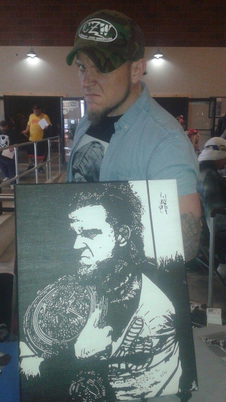 Sami Callihan acrylic painting on an 16x20 canvas by Joseph B Miller , with Sami Callihan