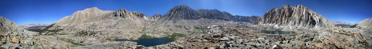 https://flic.kr/p/VTCEwn   John Muir Trail Panorama from Crabtree Meadows to Mt Whitney   From the ridge between Guitar and Hitchcock Lakes. Panorama of the John Muir Trail from Crabtree Meadows at far left to Mt Whitney at center, with Mt Hitchcock and Hitchcock Lakes at right, Guitar Lake at center, and Timberline Lake barely visible at left. California, Sierra Nevada Mountains, Sequoia National Park, Guitar Lake. Off the John Muir Trail near Mile 206.  (All images copyrighted. Copying my…