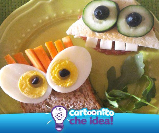 TOAST... SPIRITOSI!  #CartoonitoCheIdea #Cartoonito #food #merenda #bambini #kids
