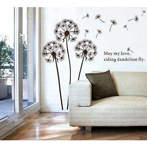 00329 Adesivo murale Wall Art - Soffione 3 - Misure 116x120 cm - bianco - Decorazione parete, adesivi per muro, carta da parati